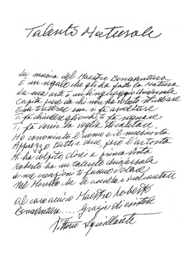 Dedica di Vittorio Squillante